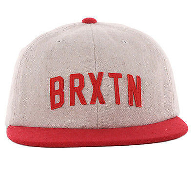 c280d882df643 Brixton - Hamilton Hat Snapback Cap Cream Red One Size Fits All SKATE CASUAL