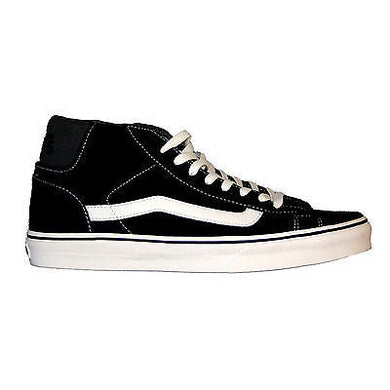 Vans - Mid Skool 77 Men's Trainer Black/Marshmallow Shoes SALE-Magic Toast