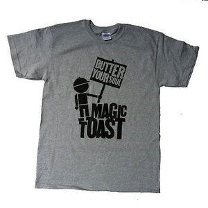 Magic Toast x Stepchild Snowboards - MagicToast T-Shirt - Grey-Magic Toast
