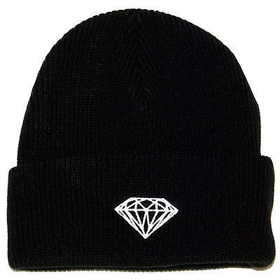 Diamond Supply Co. - Brilliant Fold Beanie Hat - Black, Navy, Heather, Red-Magic Toast