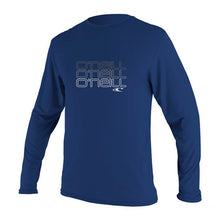 O'Neill - Toddler Skins Long Sleeved Rash Vest/Tee - Navy-Magic Toast