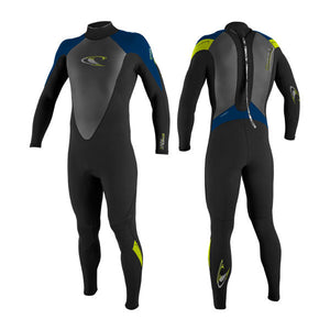 O'Neill - Hammer 3/2mm Full Length Wetsuit - Black/Deep Sea/Lime-Magic Toast