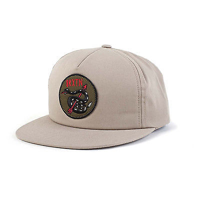 Brixton - Pierce Snapback Cap Hat - Khaki-Magic Toast