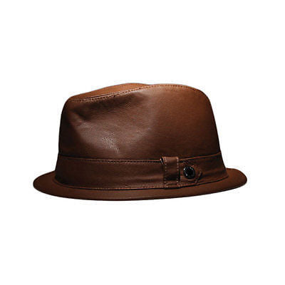 Elm Company Ellington Fedora Brown Faux Leather L/XL-Magic Toast