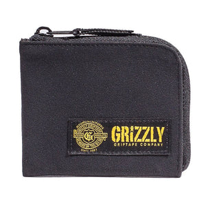 Grizzly - G Script Half Zip Wallet - Black-Magic Toast