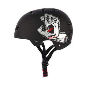 Bullet X Santa Cruz Screaming Hand Helmet Black Large/Extra Large Skateboarding-Magic Toast