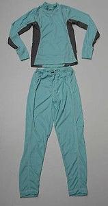 Ladies Five Seasons 'Adine' Set Mint/Grey - Snowboarding Thermals UK Size 12-Magic Toast