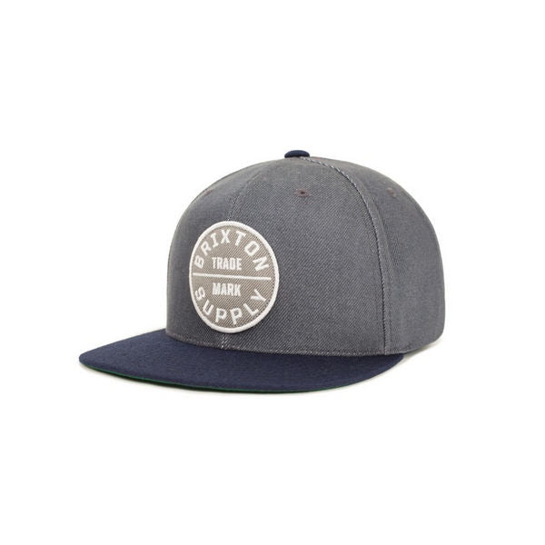 Brixton - Men's Oath 3 Snapback - Light Blue/Dark Navy-Magic Toast