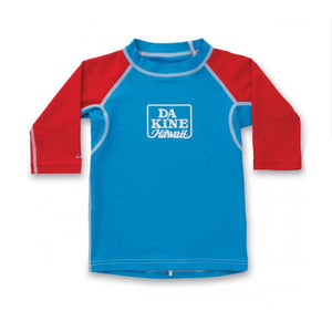 Dakine - Toddler Snug Fit Long Sleeve Rashguard - Kids Vest - Blue-Magic Toast