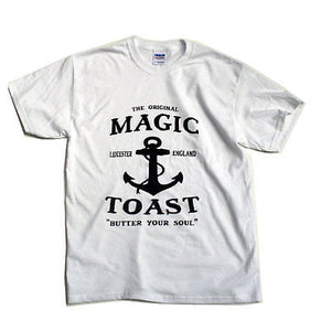 Magic Toast - Anchor T-shirt - White-Magic Toast