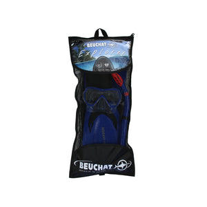 Beuchat Jetta Explorer Set Adult Mask, Purge Snorkel & Fins Set UK 9.5 - 12-Magic Toast
