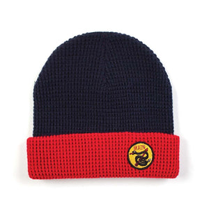 Brixton - Scale Beanie Hat Black - Navy/Red-Magic Toast