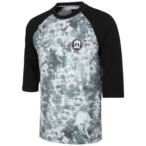 Gnarly Clothing Raglan Team Dye 3/4 Length T-Shirt Black SALE-Magic Toast