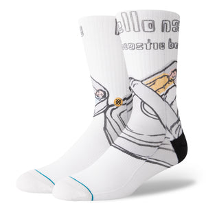 Stance - Foundation Socks -Beastie Boys Hello Nasty - White-Magic Toast
