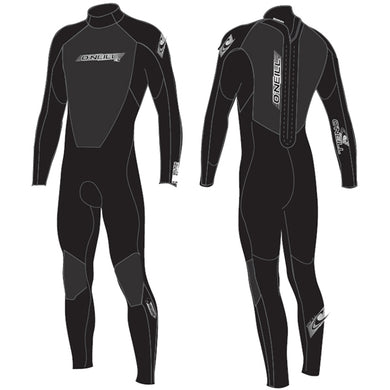 O'Neill - Youth Reactor Convertible 3/2mm Wetsuit - Black/Black-Magic Toast