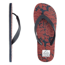 Reef - Chipper Men's Sandals/Flip Flops - Red Floral-Magic Toast