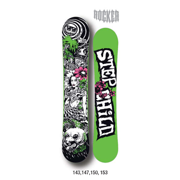 Stepchild Snowboards - 2011/12 Joe Sexton Pro Model Reverse Camber Snowboard - 147 SALE-Magic Toast