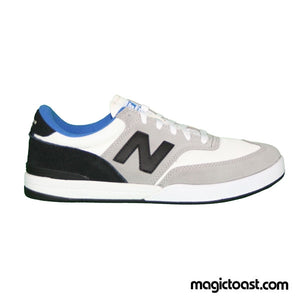 New Balance Numeric - Allston 617 Shoes - Light Grey/Black Suede/Mesh SALE - Magic Toast