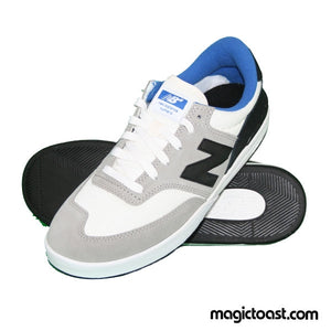 New Balance Numeric - Allston 617 Shoes - Light Grey/Black Suede/Mesh SALE-Magic Toast