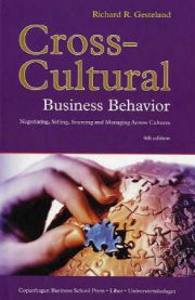 Cross-cultural Business Behavior: Negotiating, Selling, Sourcing and Managing…