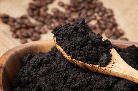Coffee grounds keep ants away; they hate the smell!