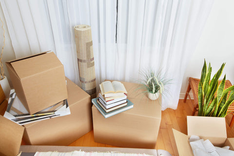 Cardboard Boxes in Home