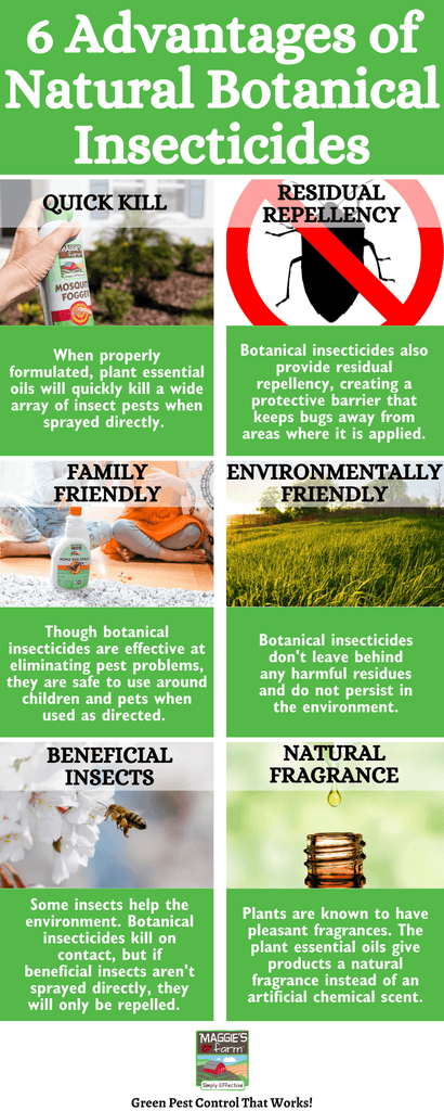 6 Advantages of Natural Botanical Insecticides Infographic