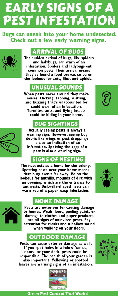 Early warning signs infographic