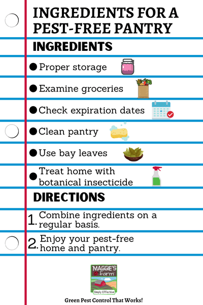 Tips for a Pest-Free Pantry Infographic