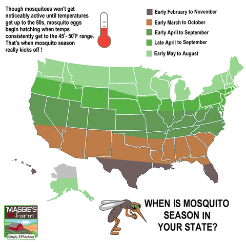 United States Mosquito Map