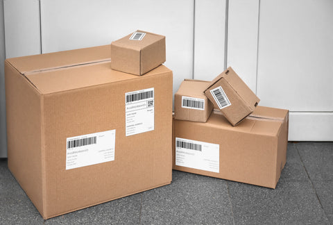 Packages in front of door