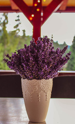 Vase with lavender