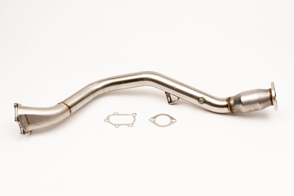 V2 CAST Bellmouth DOWNPIPE CATTED 2008 - 2018 STI / 2008 - 2013 WRX