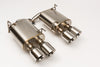 V1 Double Wall Polished Tips 2011-2013 Subaru WRX/STi Sedan