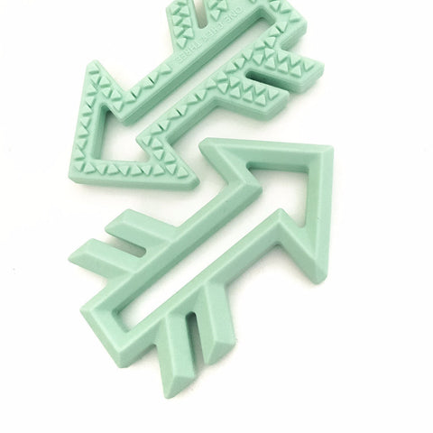 One.Chew.Three Arrow Silicone Teether Mint