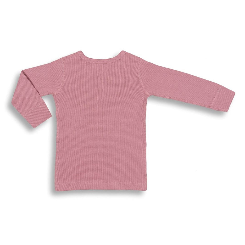 Bramble pink long sleeve shirt for baby girls and toddlers