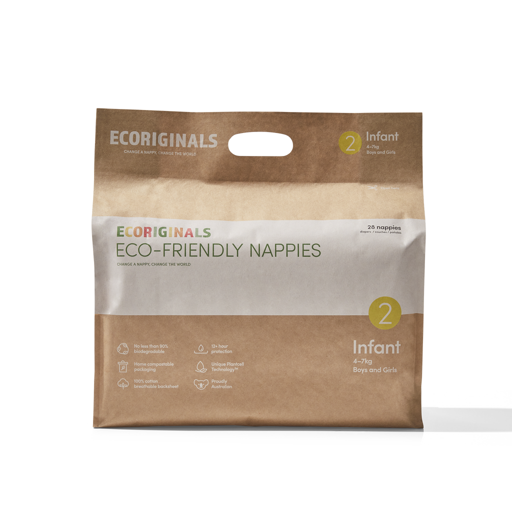 Ecoriginals Eco-Friendly Nappies for Infants 4 to 7 kilos