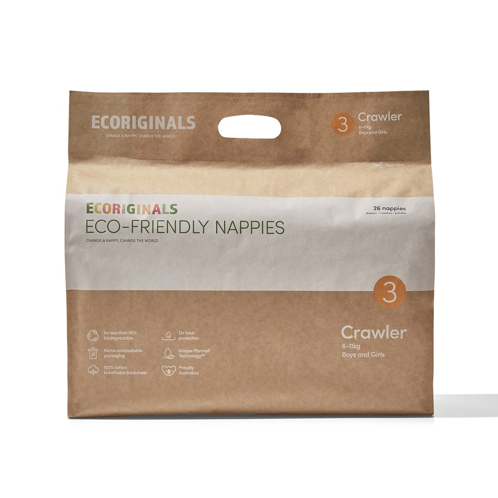 Plant based eco-friendly nappies for babies between 6 to 11 kilos