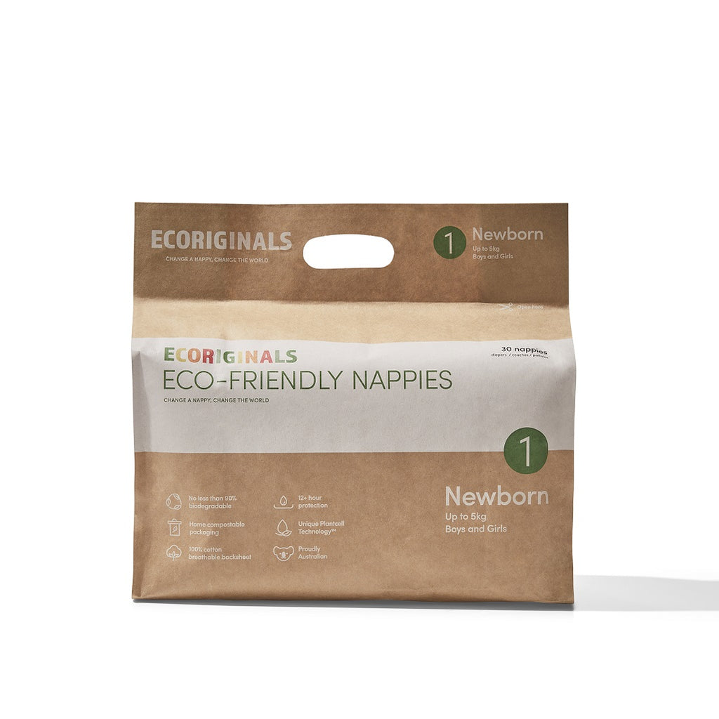Ecoriginals Newborn Nappies for babies up to 5kgs