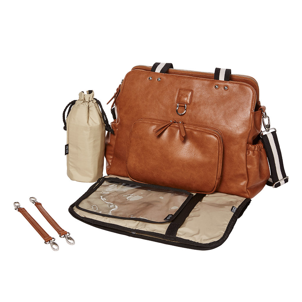 Faux Leather nappy bag with accessories