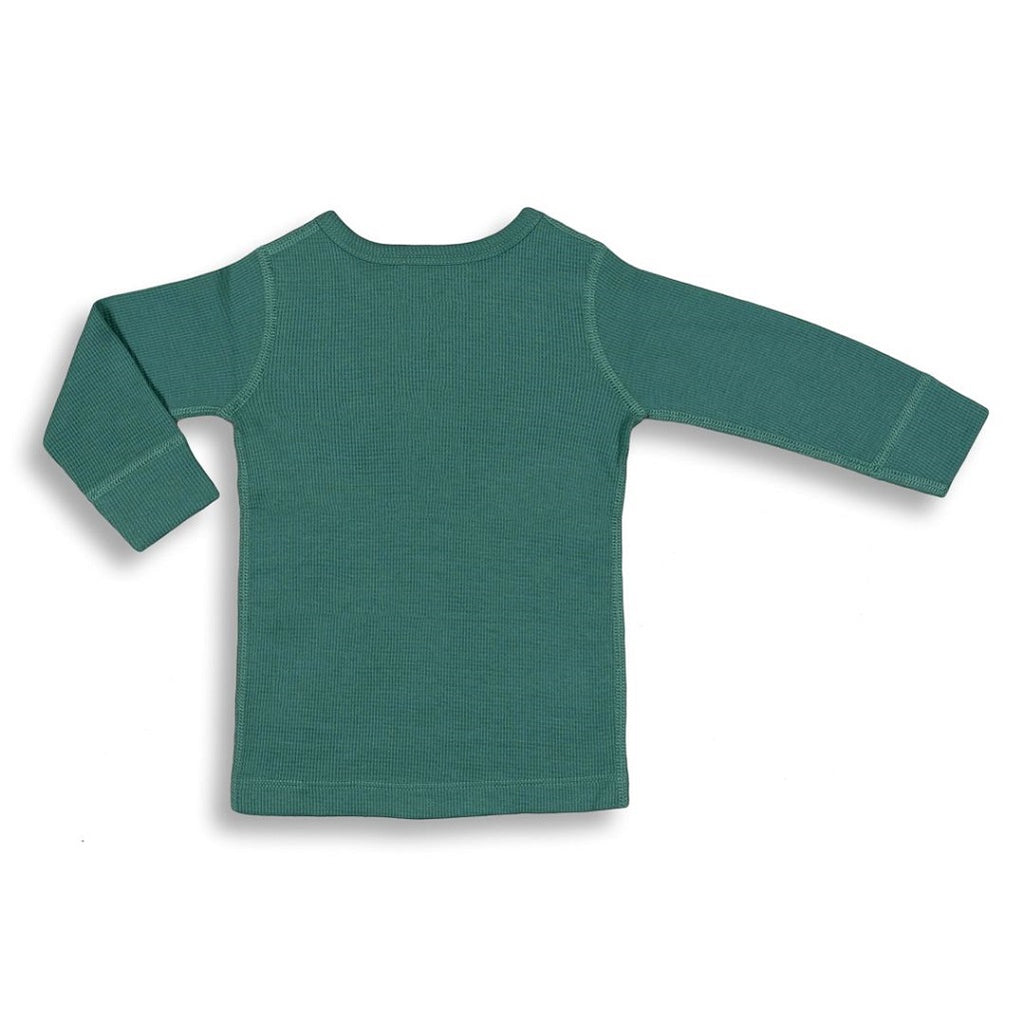Green long sleeve tee for babies and toddlers