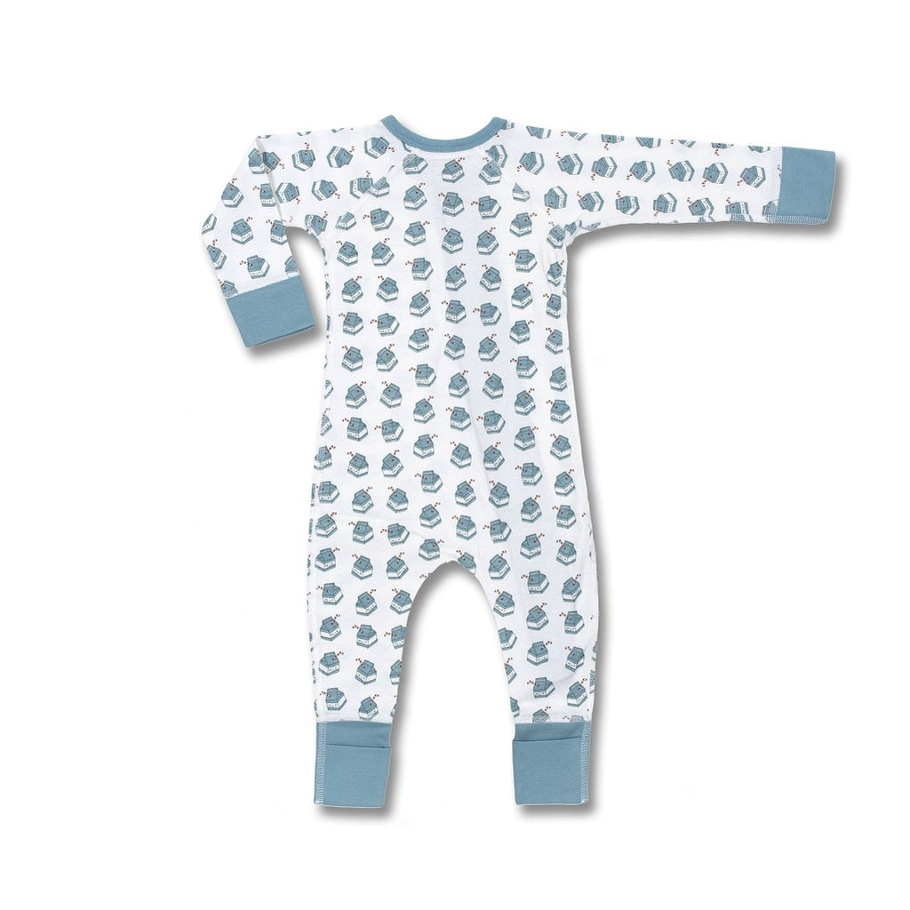 Super soft organic cotton zip romper for baby girls and boys