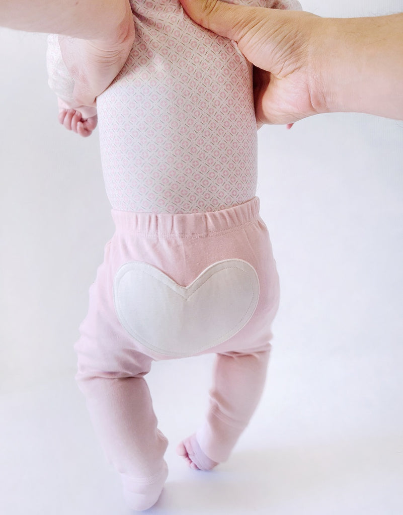 Sapling Child Dusty Pink Heart Pants