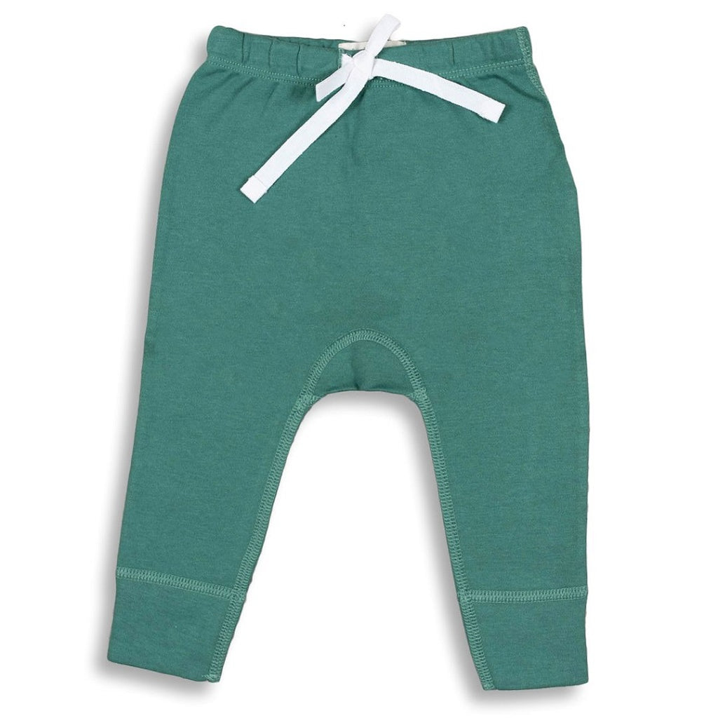 green baby pants for newborns through to toddlers