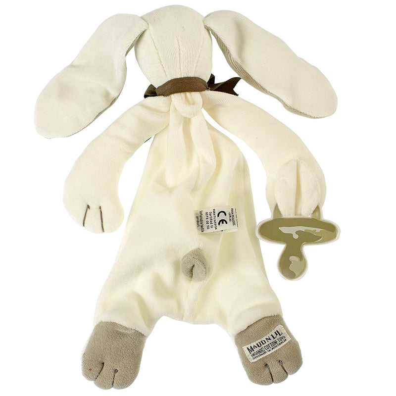 Maud N Lil Ears the Bunny Toy Comforter White Best baby shower gift