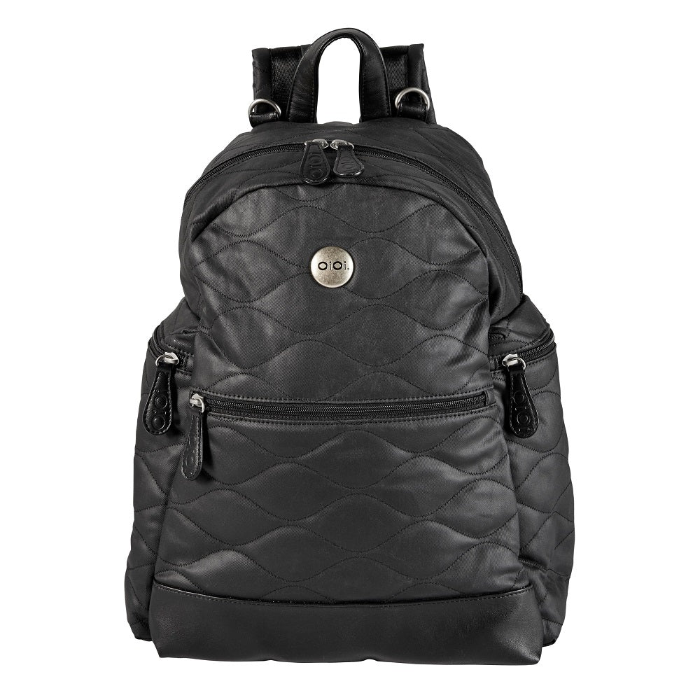 Nappy backpack black quilt from Oioi