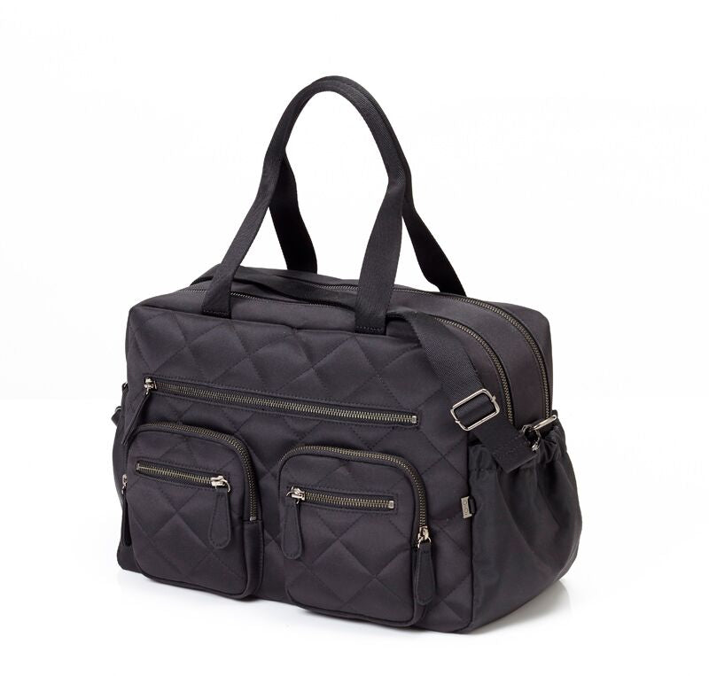 Black nappy bag from OiOi Collection
