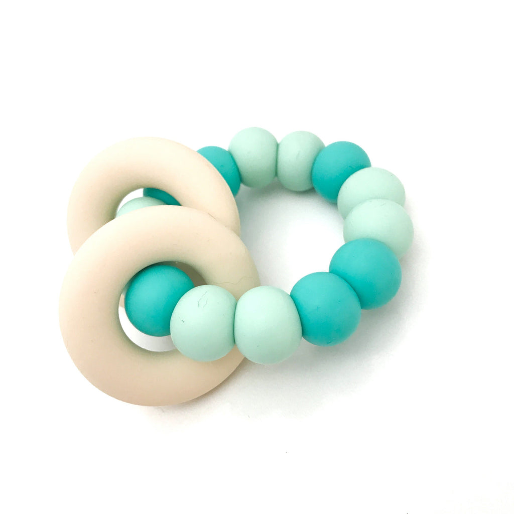 One.Chew.Three Gummi Silicone Teether Mint