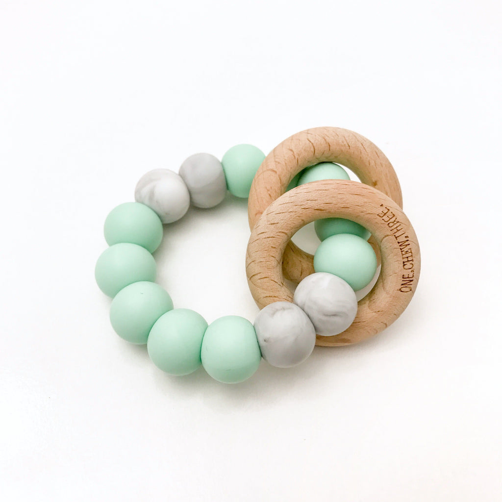 Silicone and Beechwood Teether for babies