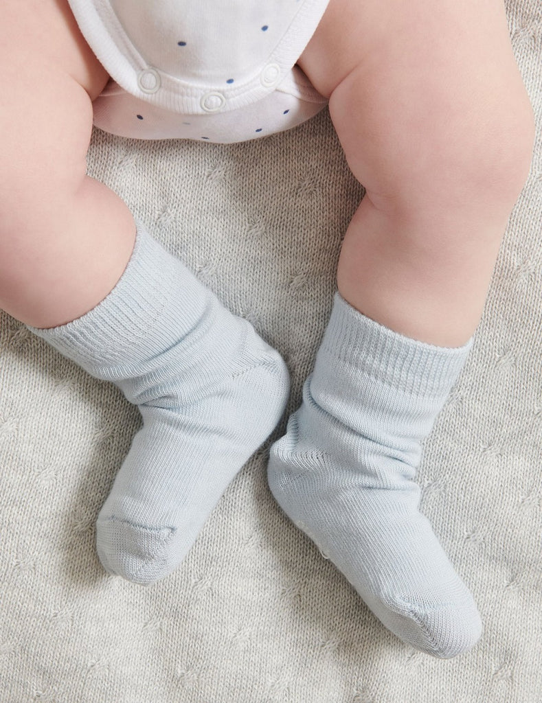 Blue and white Baby Socks